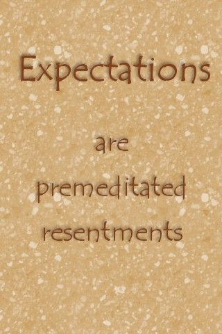 expectations...