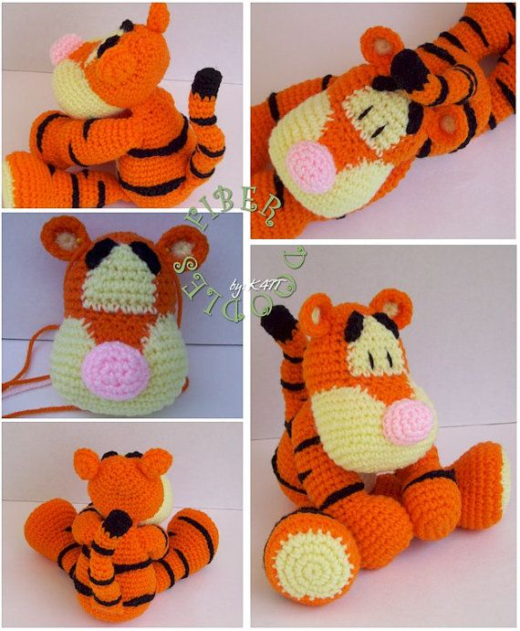 INSTANT DOWNLOAD : KISS Series - Bounce the Tiger Crochet Pattern ...