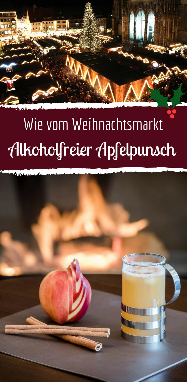 Alkoholfreier Apfelpunsch mit frischem Ingwer und Honig