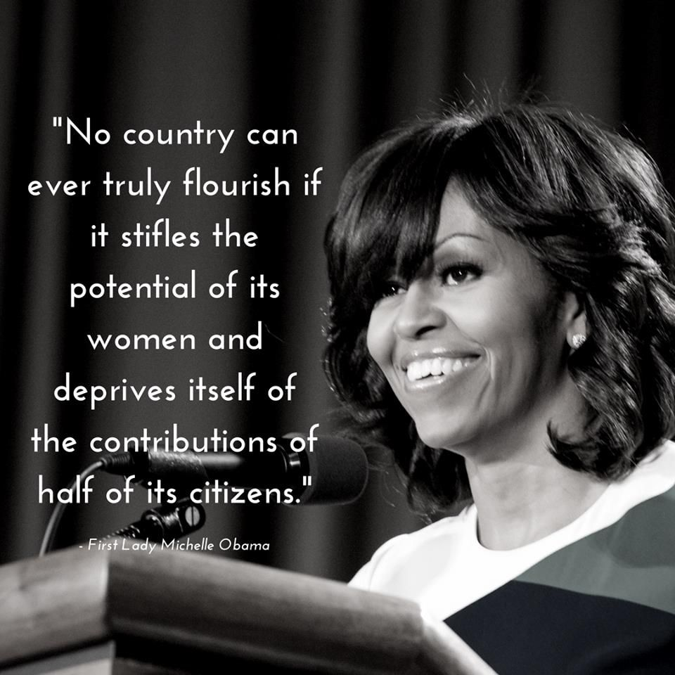 Michelle Obama Quotes Womens Rights: First Lady Michelle Obama …
