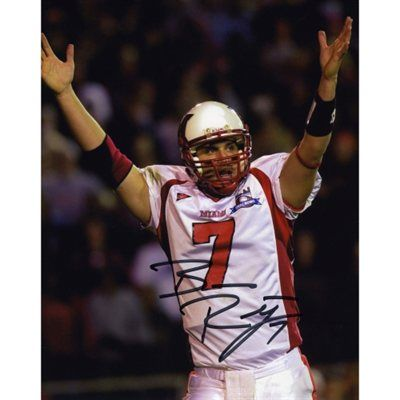Ben Roethlisberger Miami University RedHawks 8   x 10   White Jersey Arms  in Air 6bc893c6f