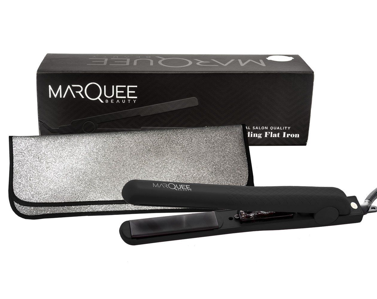 Marquee Professional Ceramic Flat Iron Hair Straightener With Thermal Travel Pouch Professi Hair Straighteners Flat Irons Ceramic Flat Iron Hair Straightener