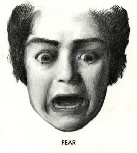 Facial expressions of fear porn
