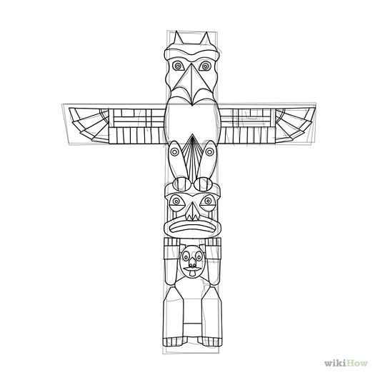 How to Draw a Totem Pole | Totems and Tikis | Pinterest | Indianerin