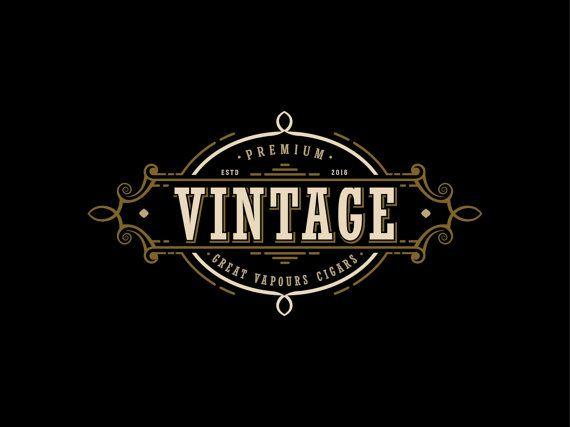 vintage logo design cigars logo design vapor