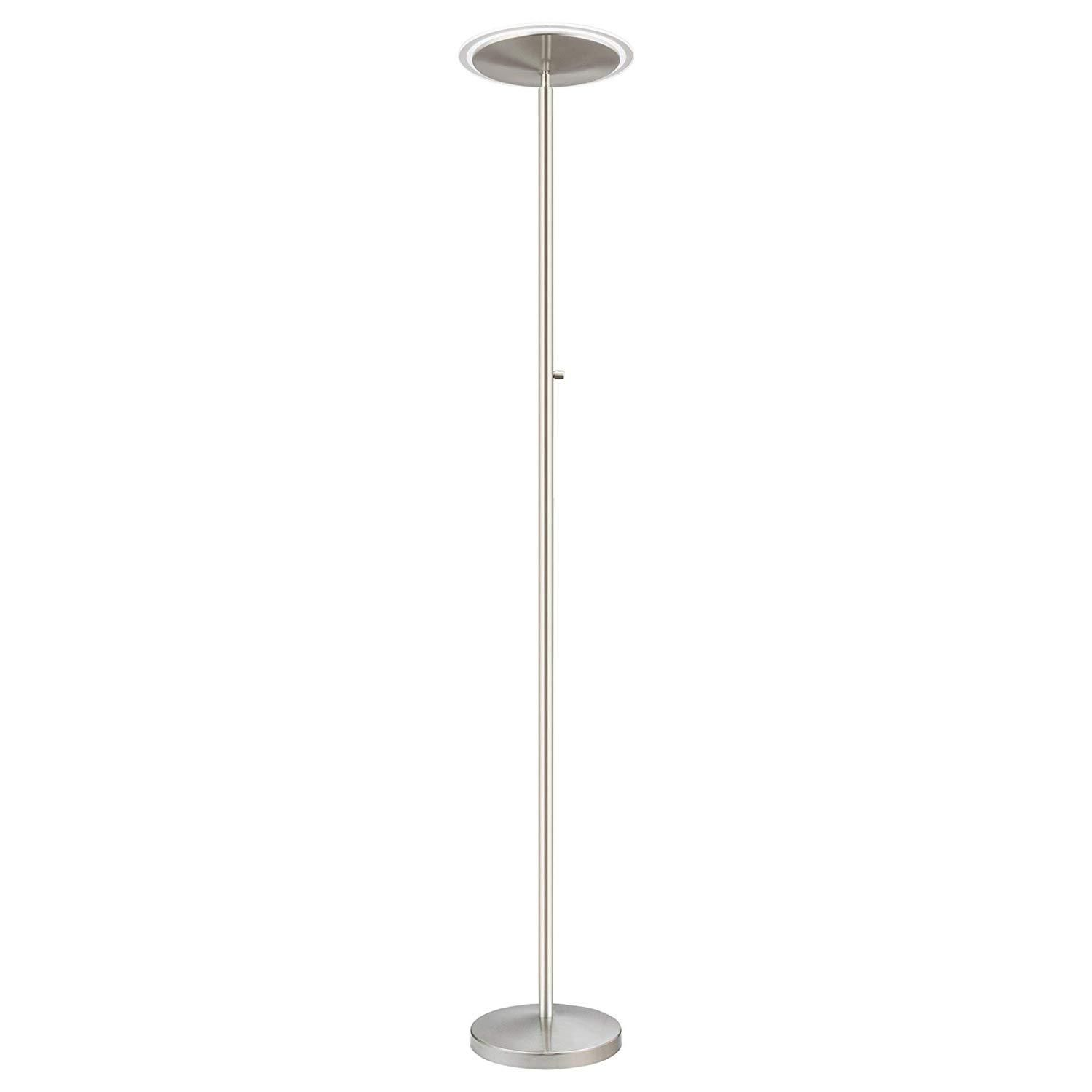 Kira Home Horizon 70 Modern Led Torchiere Floor Lamp 36w 300w Eq Glass Diffuser Dimmable Timer And Wall Switch Compatible Adjustable Head 3000k Thing 1