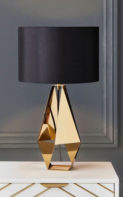Next Harper Table Lamp - Gold | Table Lamps Living Room, Gold Table Lamp, Modern Table Lamp