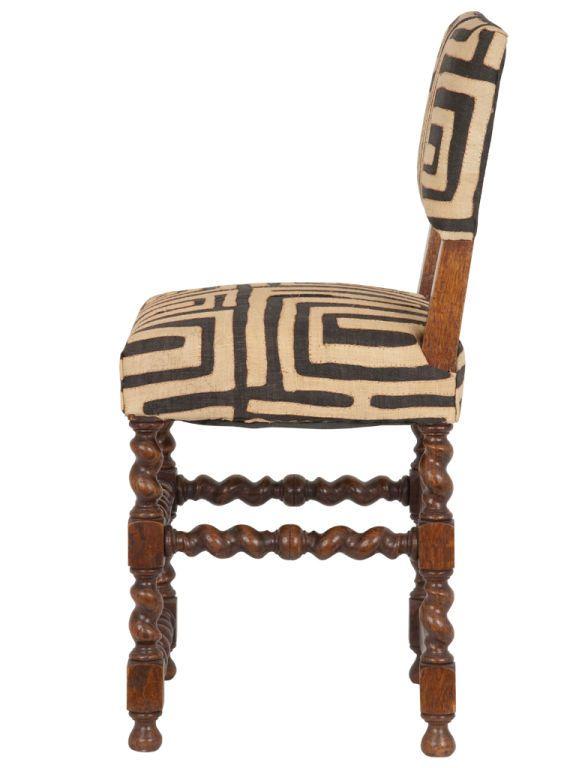 kuba cloth chair | Vintage Barley Twist Leg Chair at 1stdibs #Kuba #KubaCloth  sc 1 st  Pinterest & Vintage Barley Twist Leg Chair | Kuba Cloth | Pinterest | Vintage ...