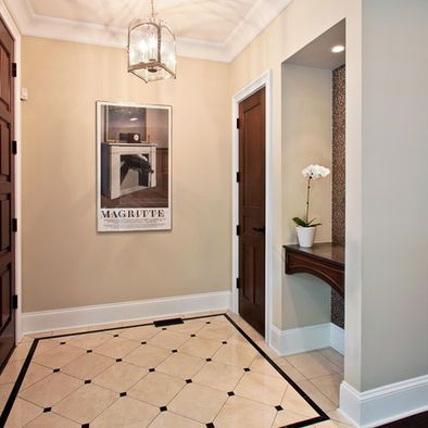 Pattern for front entry way chicago traditional entry for Entrance flooring ideas