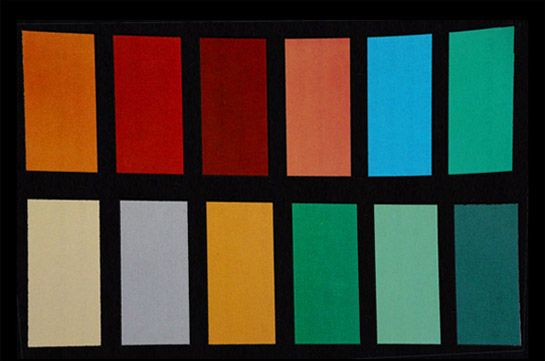Jules Querin (1860-1922) the traditional Japanese color combinations (as in real life not real harmonies) used for centuries in Japanese art and design.