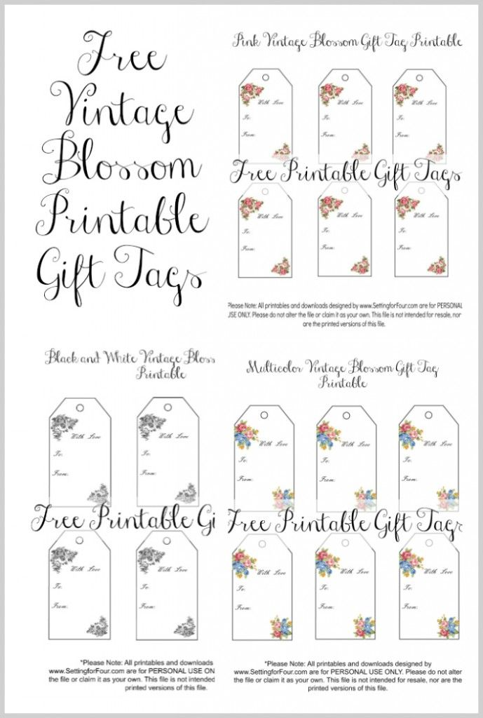 Vintage blossom free printable gift tags free printable gift vintage blossom free printable gift tags negle Gallery
