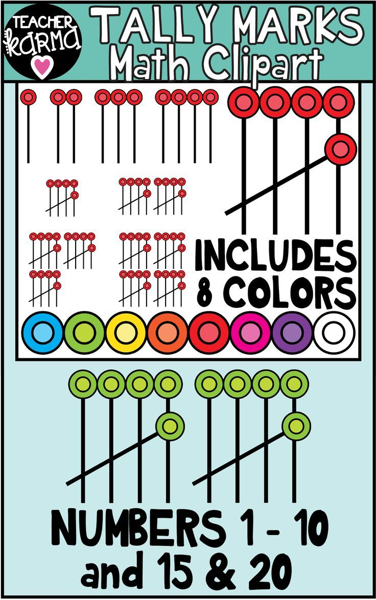 Tally Marks Clipart for Math | Math resources, Math ...
