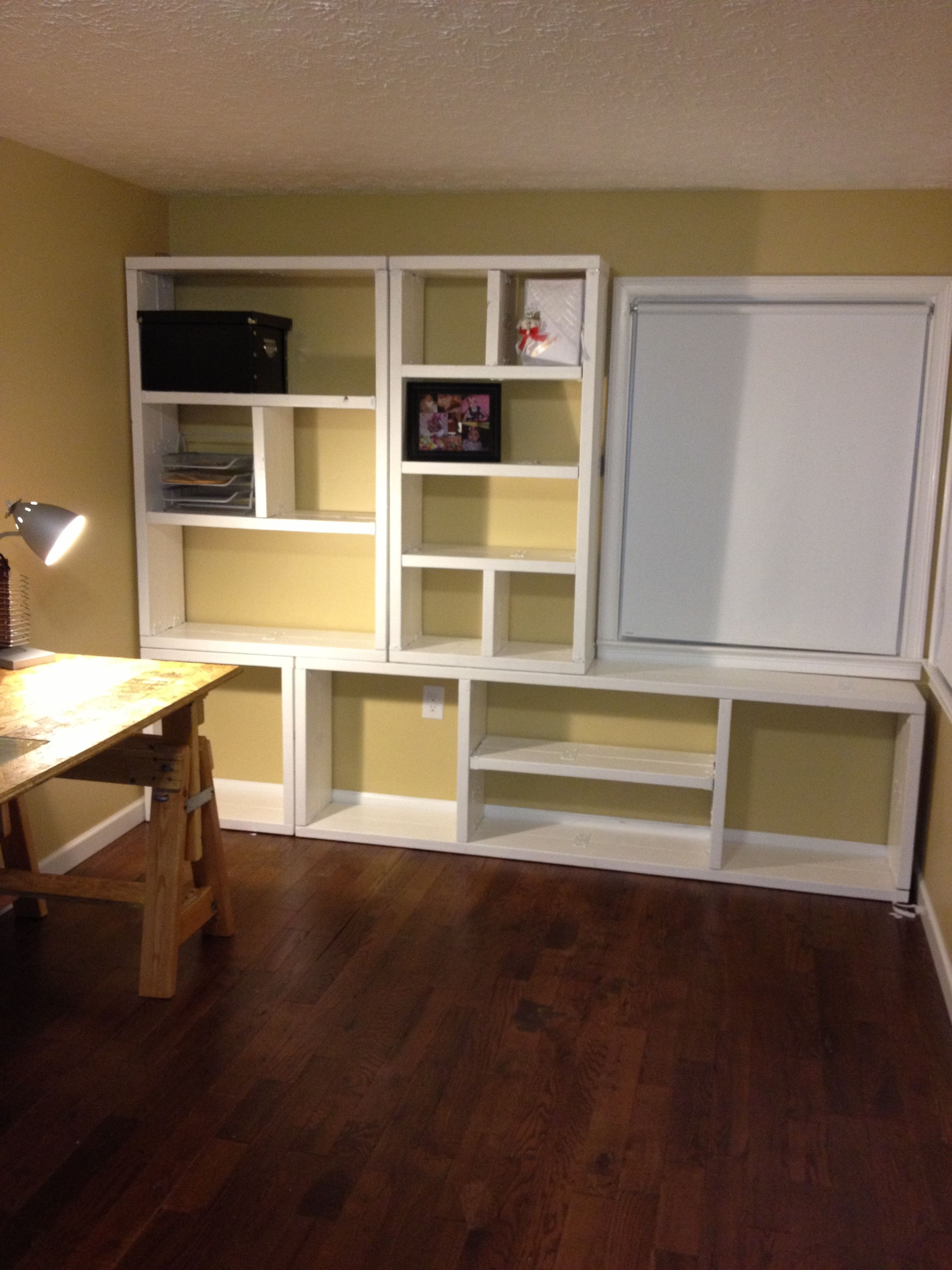 Shelving unit for under $150 DIY Wood $100 2x8 put side by side Decking straps & Shelving unit for under $150 DIY Wood $100 2x8 put side by side ...