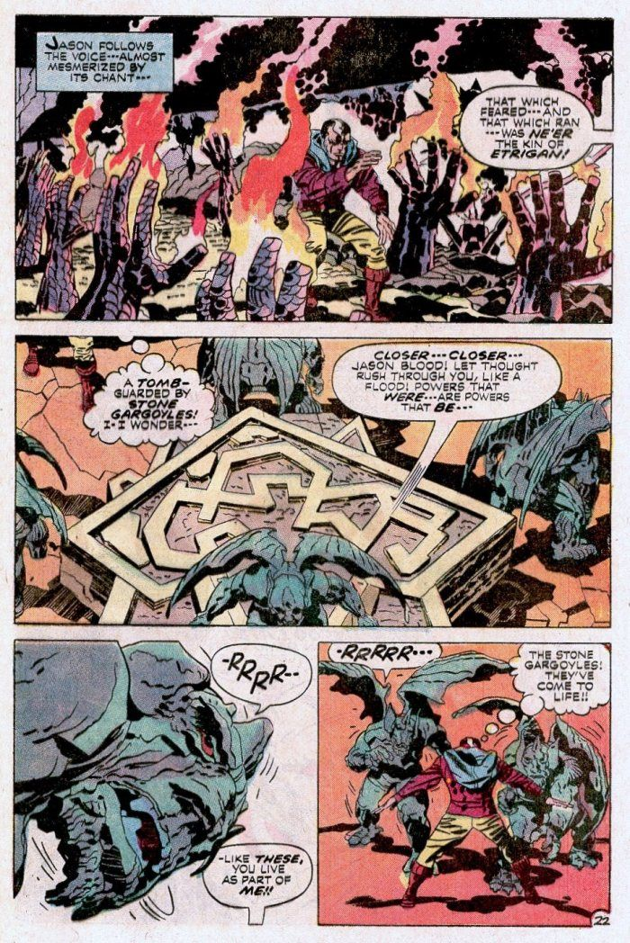 Kirby's Etrigan the Demon - Jason Blood gets surrounded