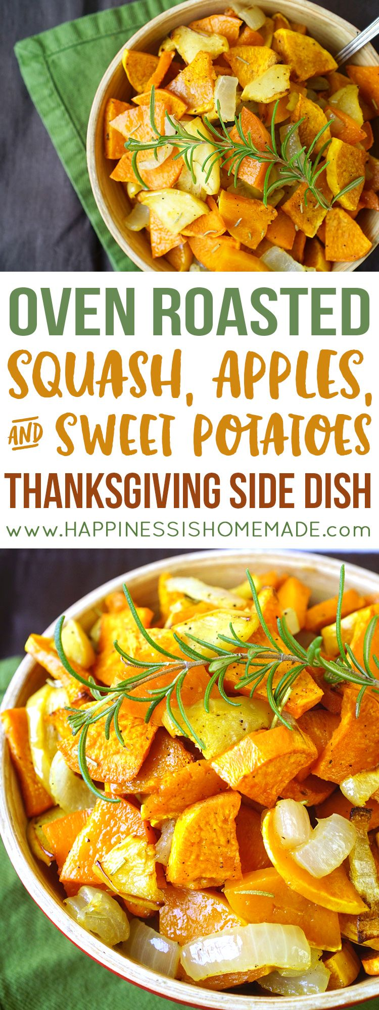 These quick and easy Roasted Sweet Potatoes, Squash, and Apples make a delicious…