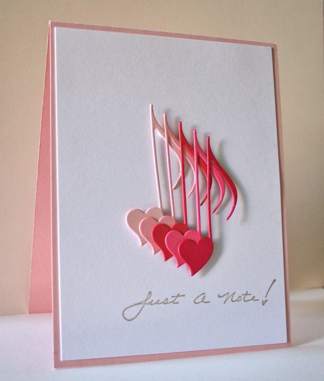 Unique Handmade Valentine Card Design Downloadtarget Simple Cards Valentines Cards Cards Handmade