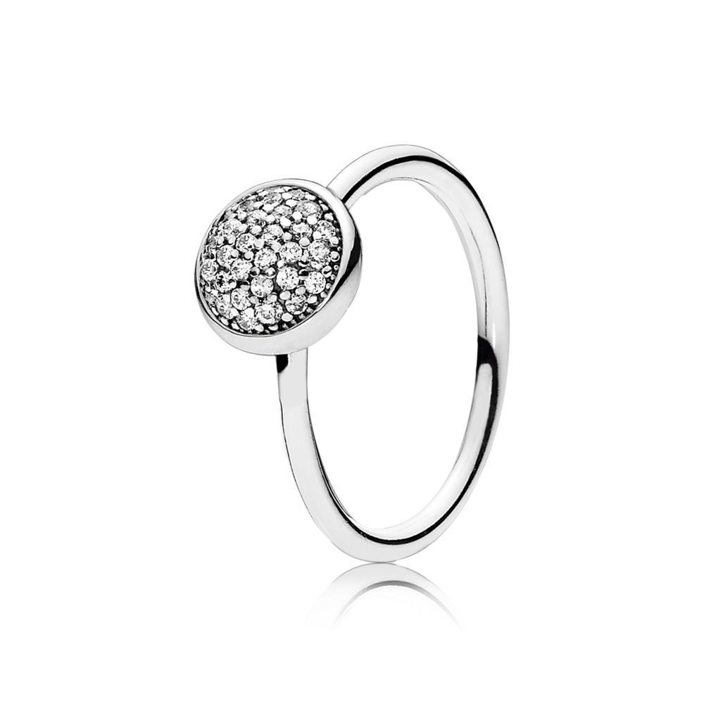 acc15ec61 New! Authentic Pandora 925 Silver Dazzling Droplet Ring 191009Cz Size 6/52