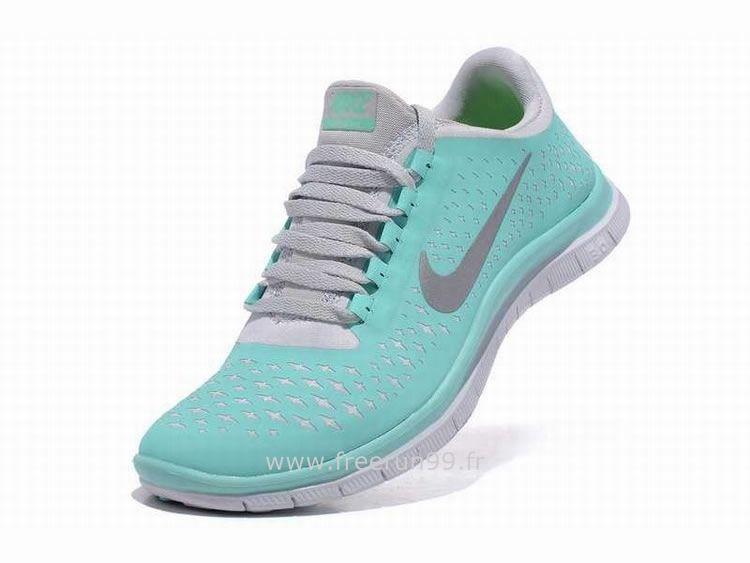 save off 56a4b 14d6b Femme Nike Free 3.0 V4 Chaussures Light Vert Nike Free Run Femme Bleu