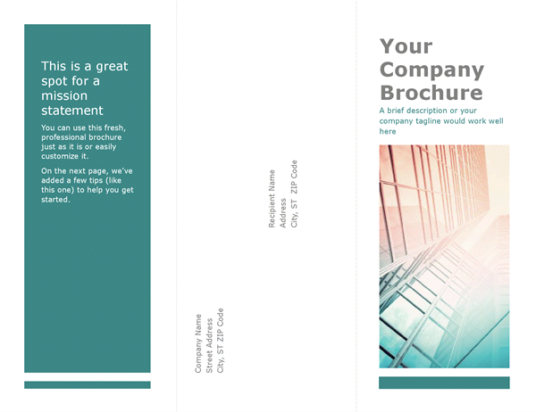 Trifold brochure (blue) inventory Brochure template