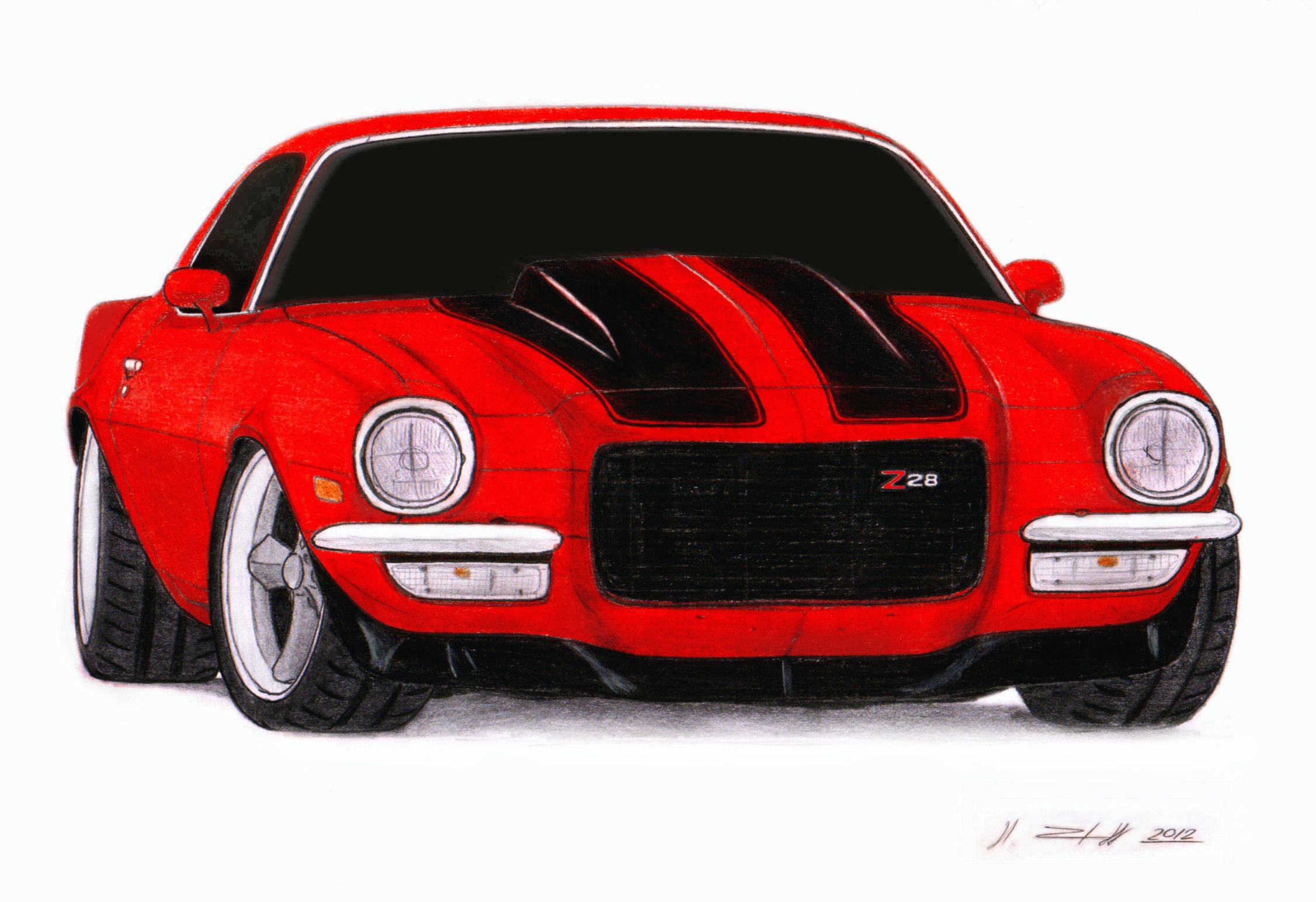 Chevrolet Camaro Pro Touring Drawing By Vertualissimo