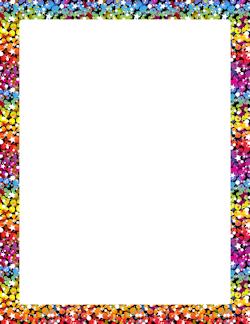 rainbow glitter border pink