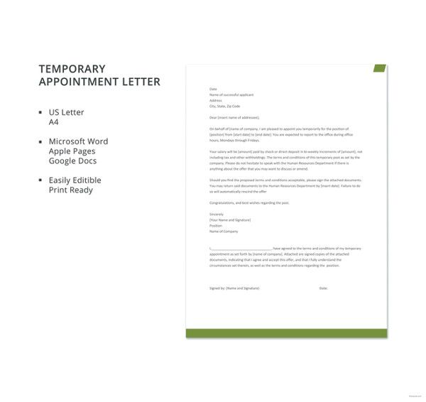 47+ Appointment Letter Templates in Doc Templates