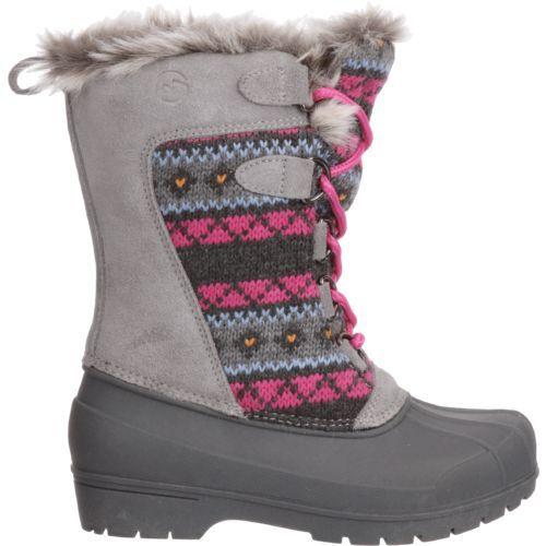 e5475e97ecd8f Magellan Outdoors Girls' Sweater Pac Boots (Grey/Pink, Size 12) - Winter  Boots at Academy Sports