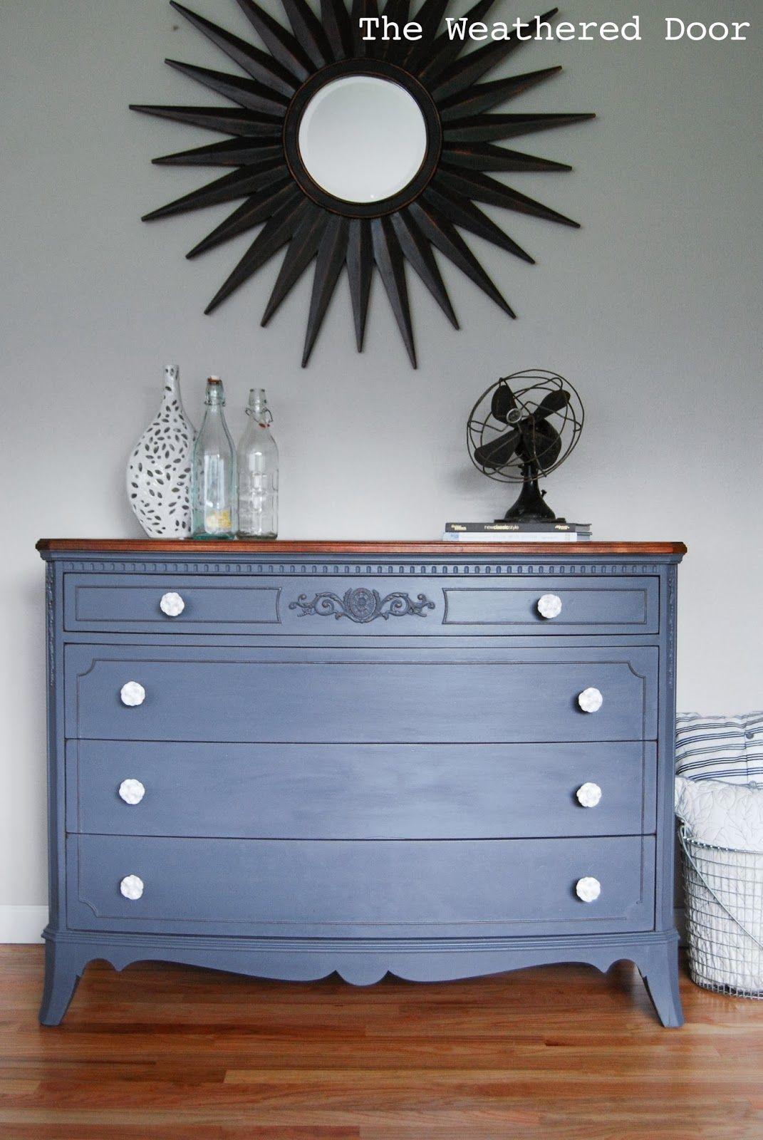 A French Grey Dresser With A Wood Top Kalkputz Putz [ 1600 x 1071 Pixel ]