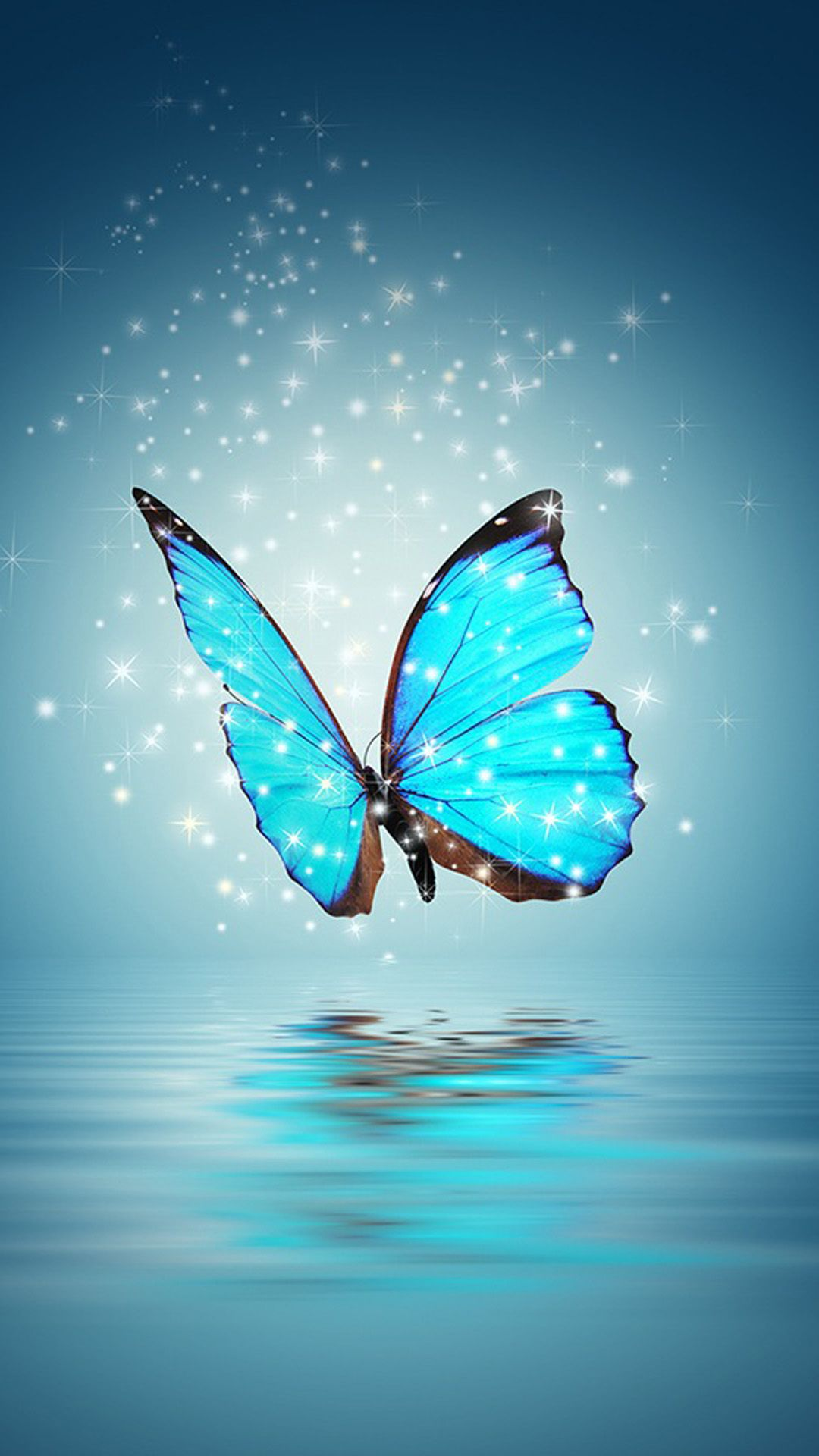 iPhone Wallpaper Butterfly wallpaper, Blue butterfly