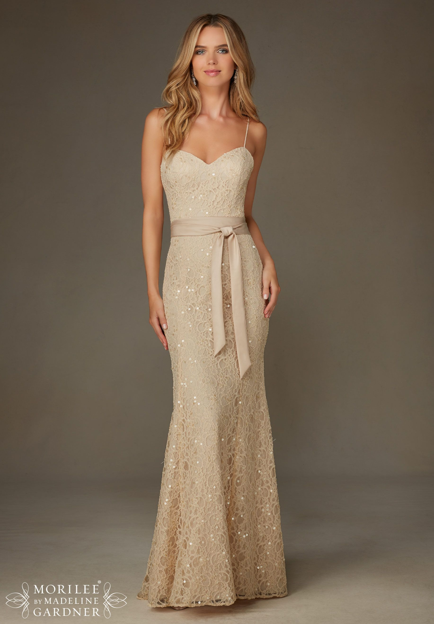 Bridesmaids Dresses Beaded Lace Available In All Mori Lee Solid Colors