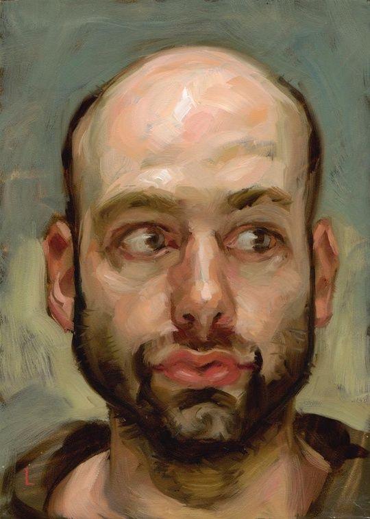 'Bald Man' © by John Larriva