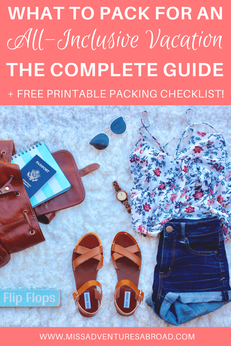 What To Pack For An All Inclusive Beach Vacation