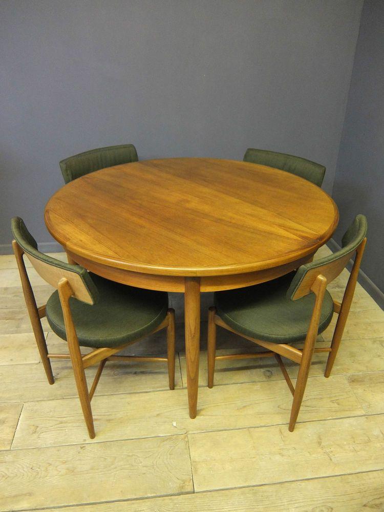 G Plan Dining Table Chairs Mid Century Retro Ebay