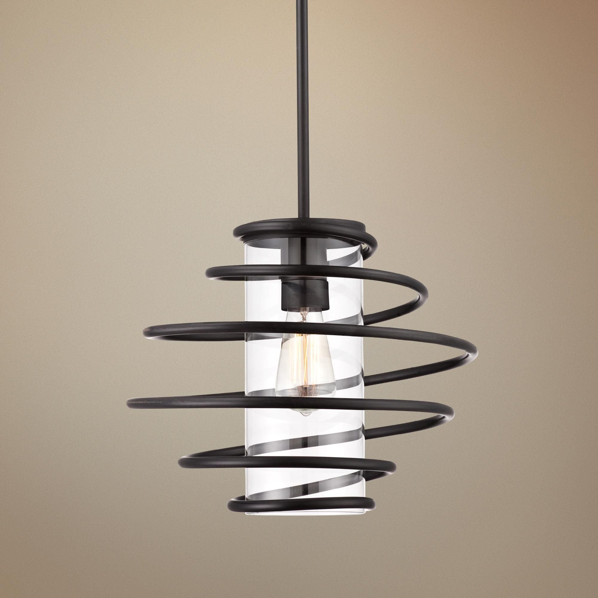 lighting black mini glass vaxcel light milano pin swirl with marble pendant