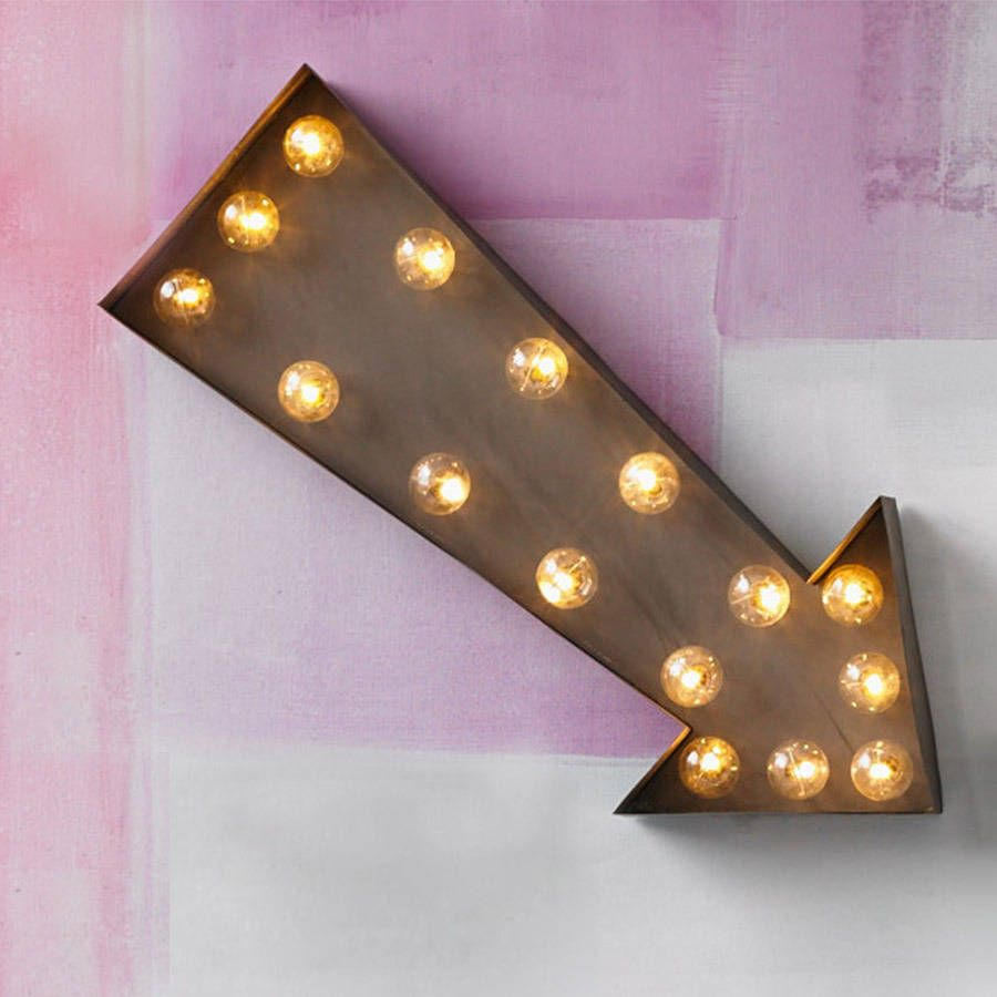 arrow led carnival light carnival arrow and rust