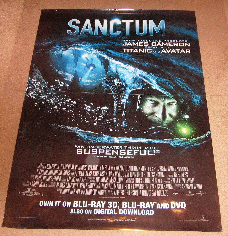 Sanctum Movie Poster 27x40 (2011) Used John Garvin, Richard Roxburgh, Christopher Baker, Dan Wyllie, Ioan Gruffudd