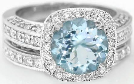 beautiful #aquamarineengagementring