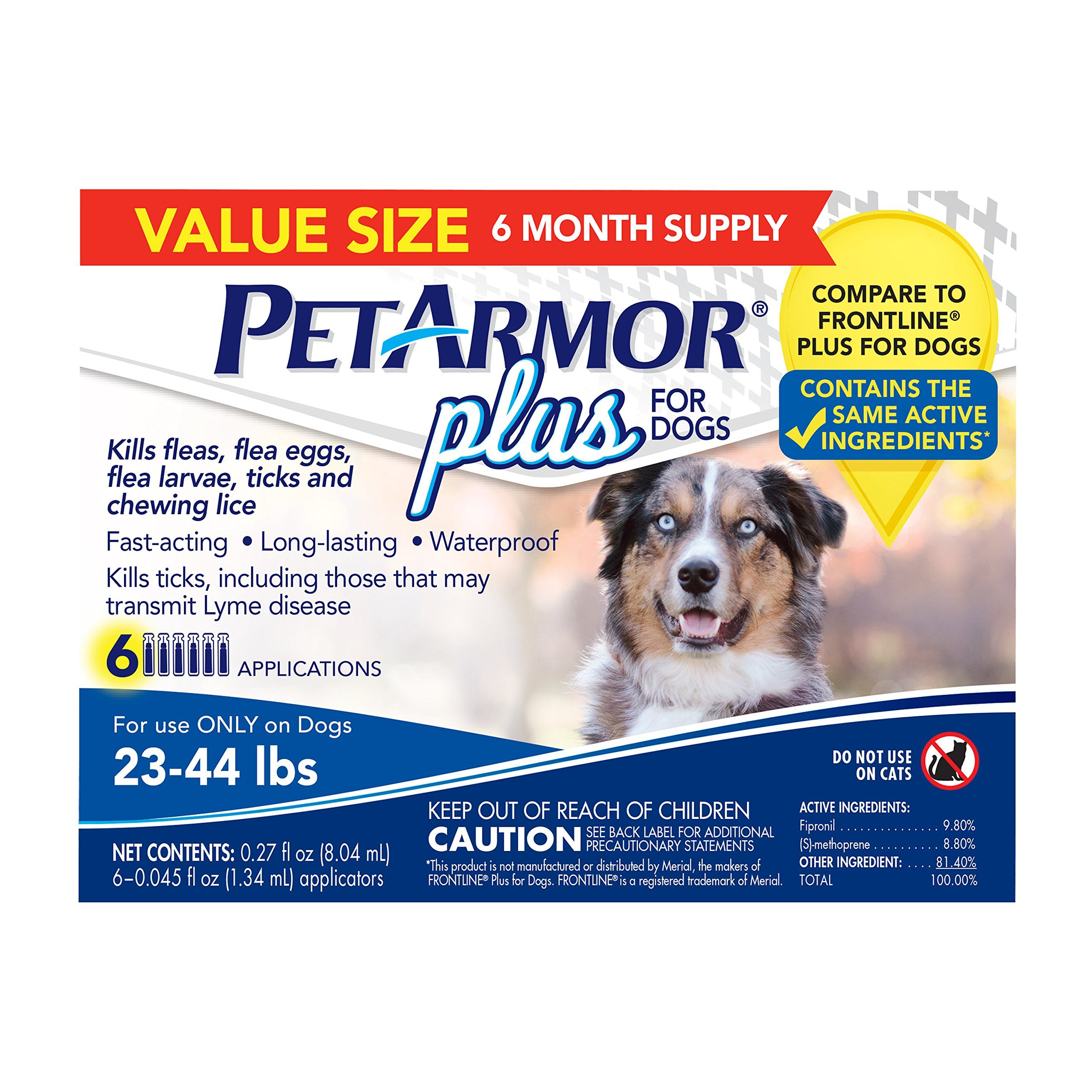 Petarmor 6 Count Plus For Dogs Flea And Tick Squeeze On Dogs Count Petarmor Squeeze Fleas Tick Control For Dogs Ticks