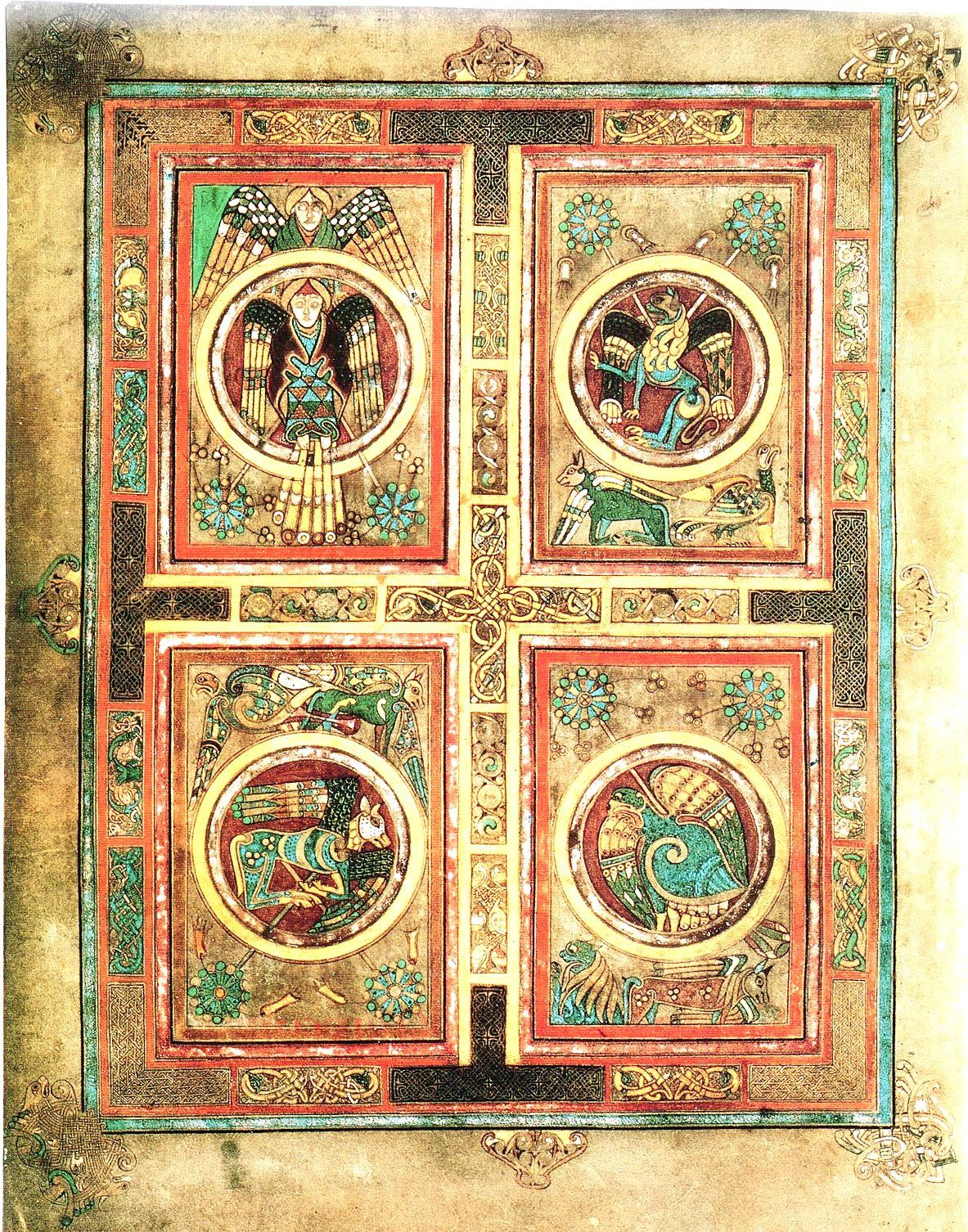 The book of kells c 800 ad this page contains the symbols of the this page contains the symbols of buycottarizona Choice Image