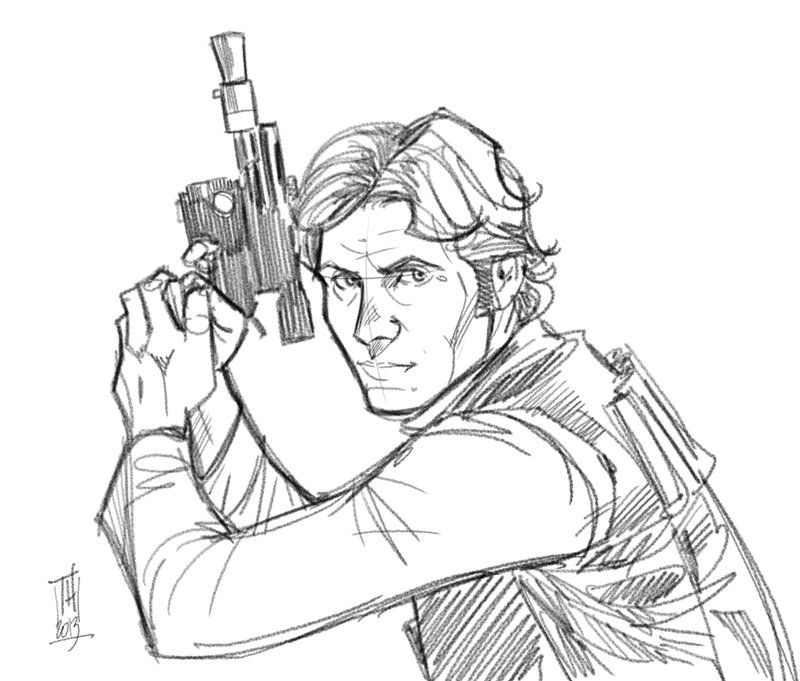 han solo gun drawing  Google Search  Art I love  Pinterest