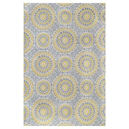 Area Rug Belize Medallion Yellow Gray 9 X12 Threshold Target