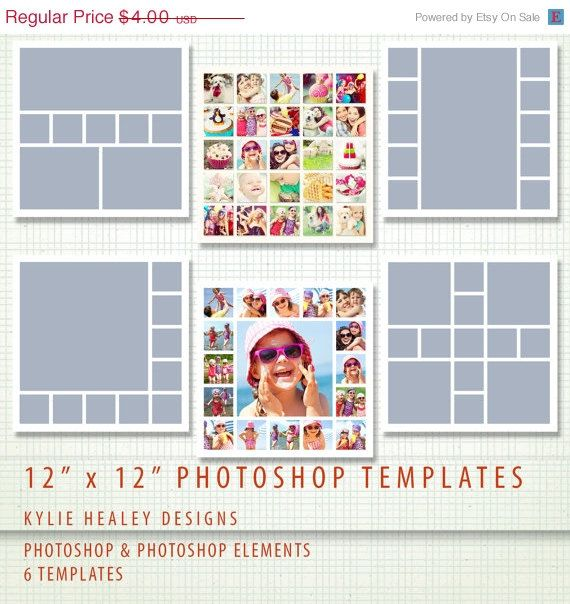 MAY SALE 6 Digital Scrapbook Storyboard Templates - Photoshop and - digital storyboard templates