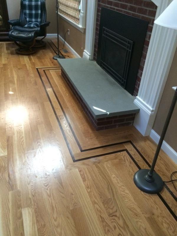 White Oak Hardwood Floor That Has A 1 Walnut Feature Strip Flooring Projects White Oak Hardwood Floors Oak Hardwood