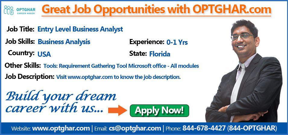 43 best IT Jobs in USA images on Pinterest Entry level, Job - business analyst job description