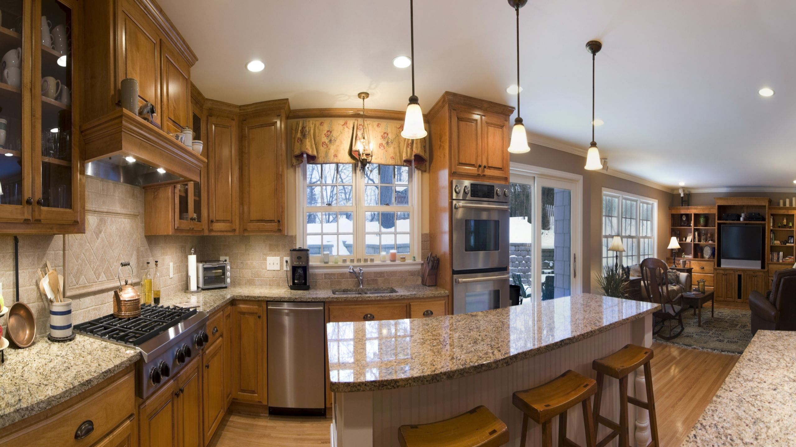 Kitchen Design Online Software Inspiration Pendant Lighting Over Island With Brown Cabinets  Google Search Review