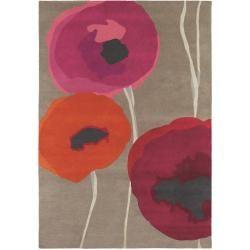 Photo of Sanderson Wool Poppies Red 140×200 cm – Naturfiberteppe laget av Sanderson ull