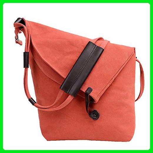 f44c9284f1a5 TOPCHANCES Casual Canvas Crossbody Messenger Shoulder Bag for Men and Women  (Orange) - Shoulder bags ( Amazon Partner-Link)