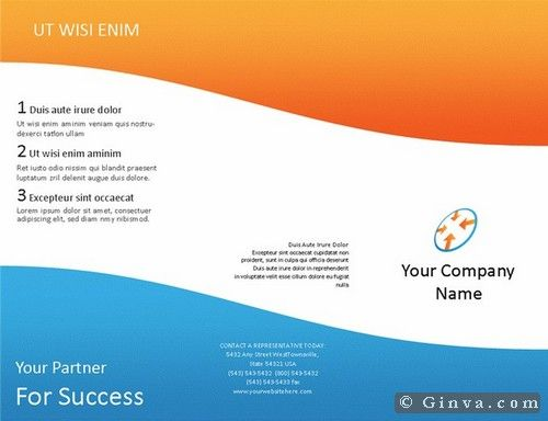 Free Brochure Templates For Word To Download Awesome Download Free Microsoft Office Brochure Templates  Ginva  Jour3321 .
