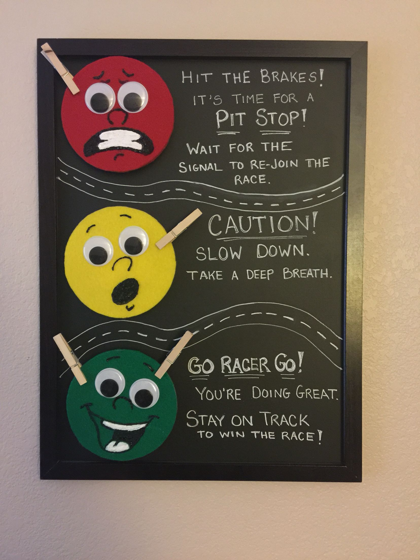 Stoplight car racer themed behavior chart love how this turned out