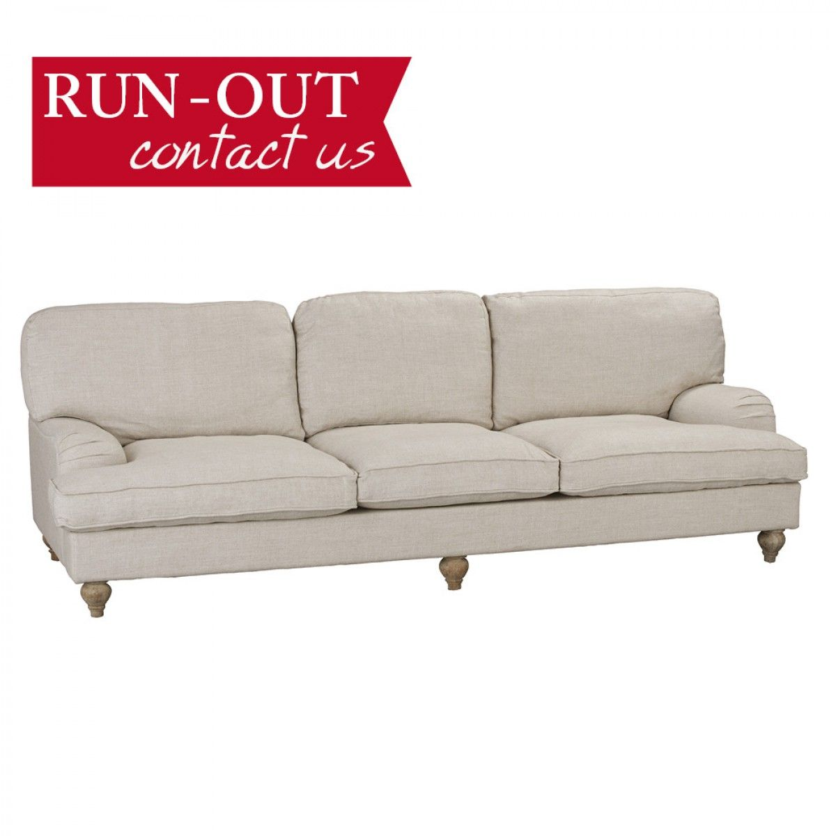 $1,999 early settler. camille 3.5 seater sofa natural - fabric